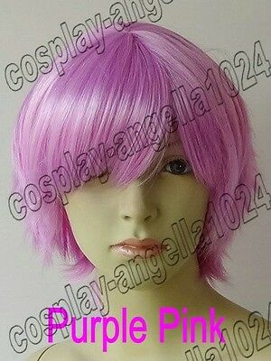 Synthetic 7 Color Short Hair Natural Flip Straight Cosplay Wig Free Shipping 18B