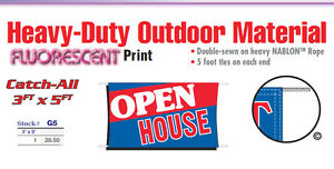 Open House Banner Sign Real Estate For Sale By Owner Signs Home Come On In Ebay