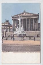 AK Wien I, Parlament-Brunnen und Pallas Athene, um 1900
