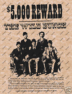Image Is Loading 5000 Reward The Wild Bunch Old West Wanted