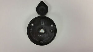 RV exterior BLACK CABLE TV receptacle round camper motorhome pop-up trailer476B3