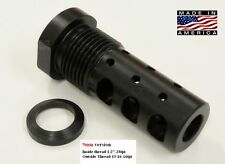 "1/2""-28 9mm Multi Function Muzzle Brake EXTERNALTHREAD ADAPTER 13/16-16 Melonite"