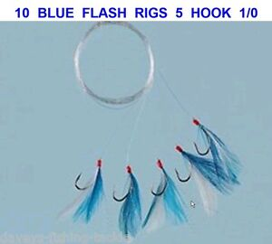Blue /& White Spinner Head 10 in Fully Rigged Saltwater Fishing Lure