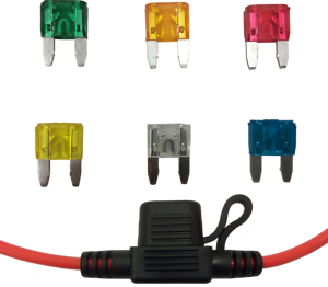 In-Line Mini Blade Fuse Holder with 6 Fuses 12V 30A Car Automotive