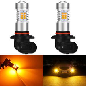 2X-9006-HB4-CANBUS-21-SMD-2835-LED-Fog-Light-Bulbs-DRL-Driving-Lamp-Amber-White