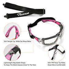 Safeyear Pink Safety Glasses Work Goggles Women Girl Female Anti Fog Head Strap