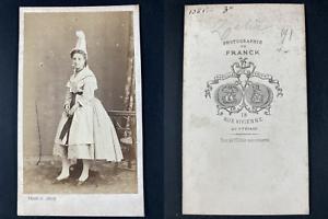 Franck, Paris, Zélia, comédienne Vintage cdv albumen print.Mademoiselle Lagard