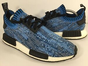 fa85c1be5 Adidas NMD R1 Blue Camo Black White Boost PK Mens Size 9 Rare BA8598 ...