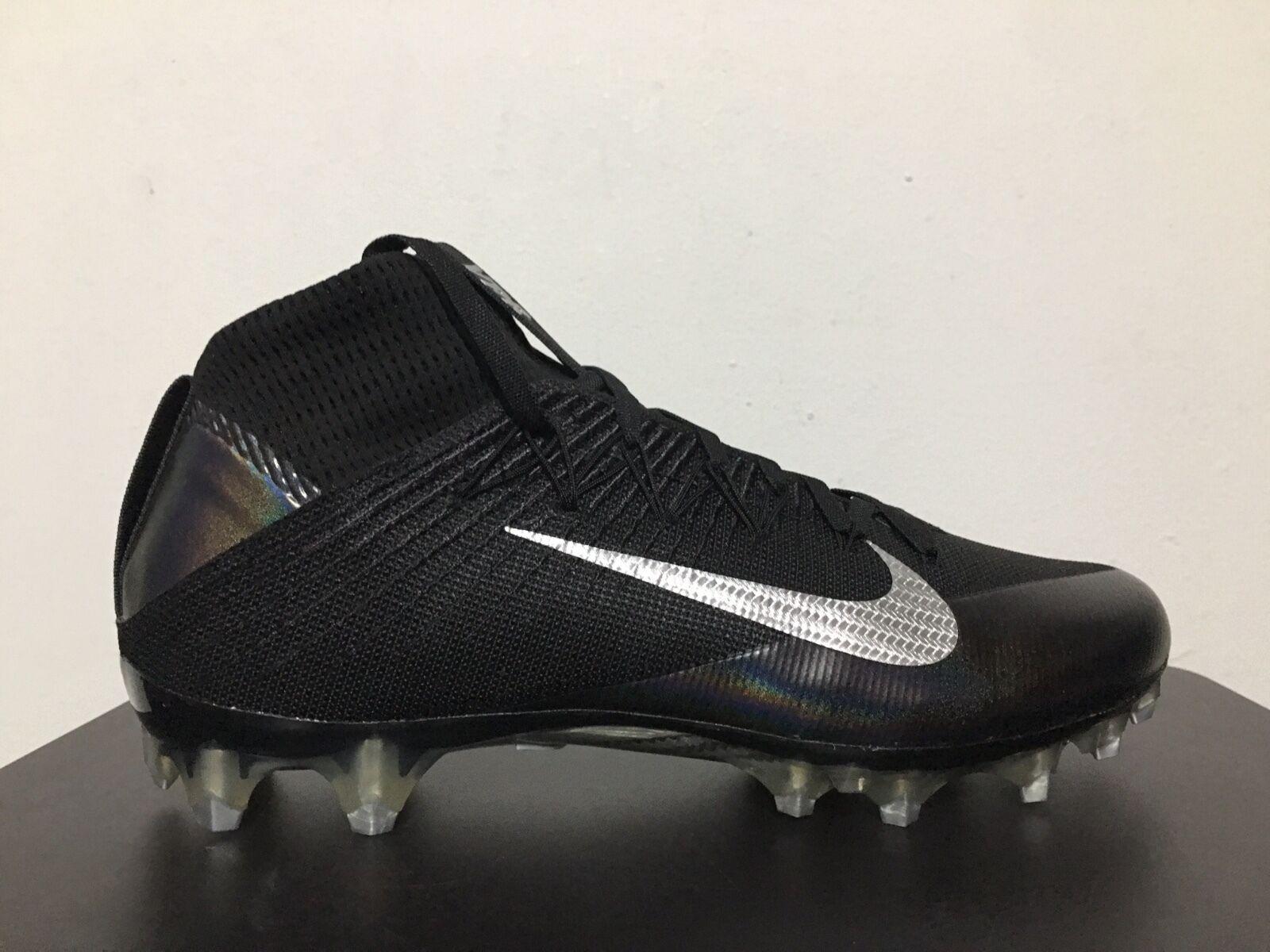Nike Vapor Intouchable 2 Football Cale Noir Métallique Argent Métallique Noir Sz [824470-002] 02707f