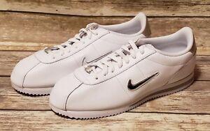 half off 770fa fa357 Image is loading Nike-Cortez-Basic-Jewel-White-Metallic-Silver-New-