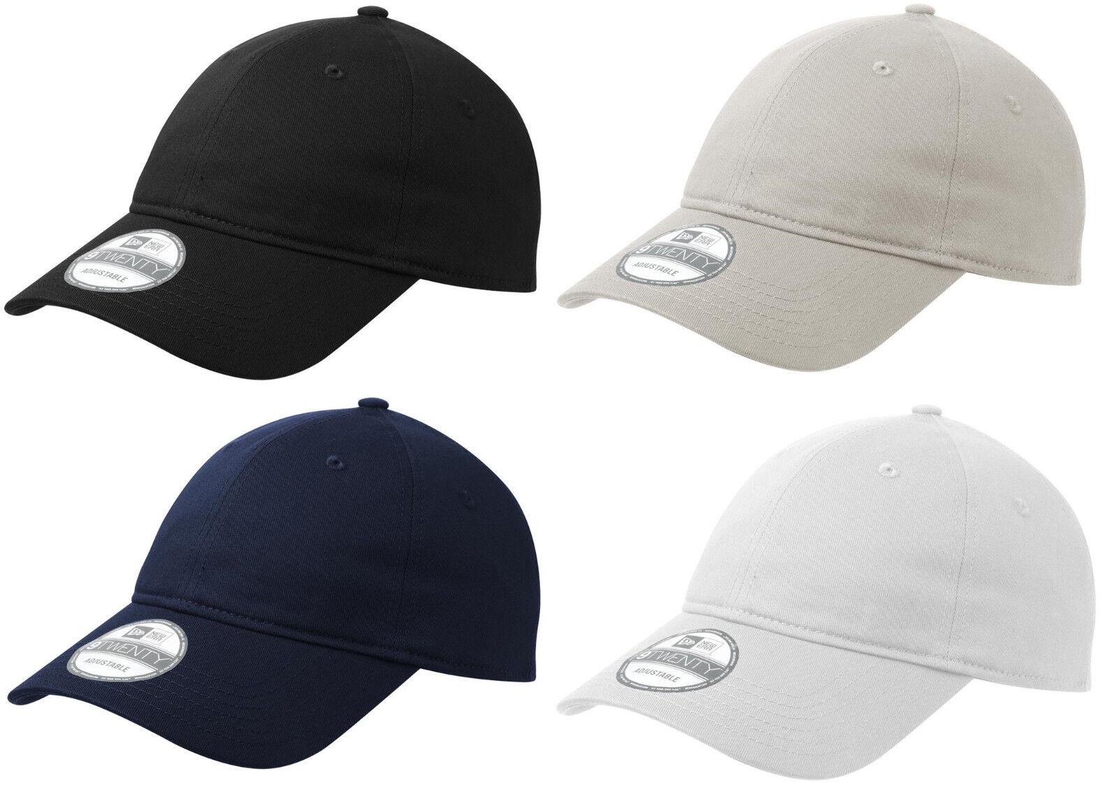 New Era 9TWENTY Adjustable - Strapback Hat Dad Cap - Adjustable Blank -Black Navy White 920 70edd4
