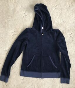 2902ebf59820 Image is loading Women-Velvet-Tracksuit-By-Juicy-Couture-Navy-M-L-