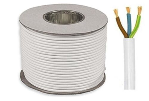 3 core 13 amp round white electrical mains cable wire flex 240v 3 core 13 amp round white electrical mains cable wire flex 240v various lengths 10 meters publicscrutiny Images