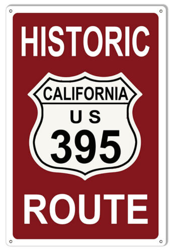 Historic California Route 395 Sign 12x18
