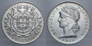 1-ESCUDO-1915-REPUBBLICA-PORTOGHESE-PORTOGALLO