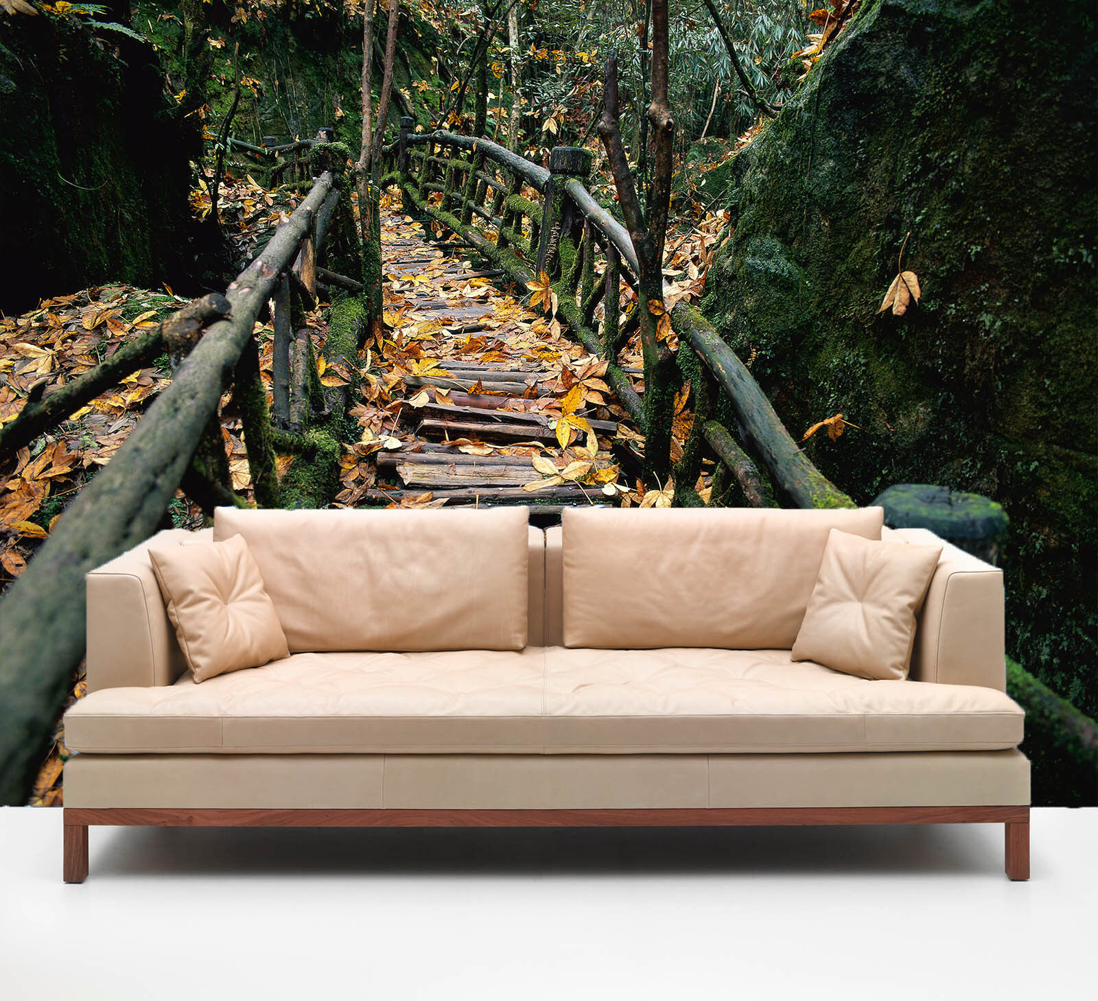 3D Mountain Forest Wooden Road 30 Wall Paper Wall Print Decal Wall AJ Wall Paper