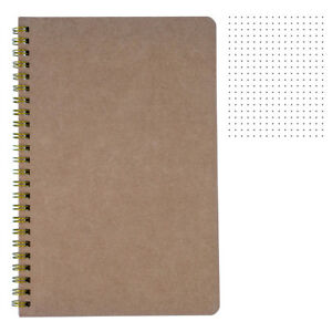 big dotted notebook b5 spiral dot grid paper notebook tan cover
