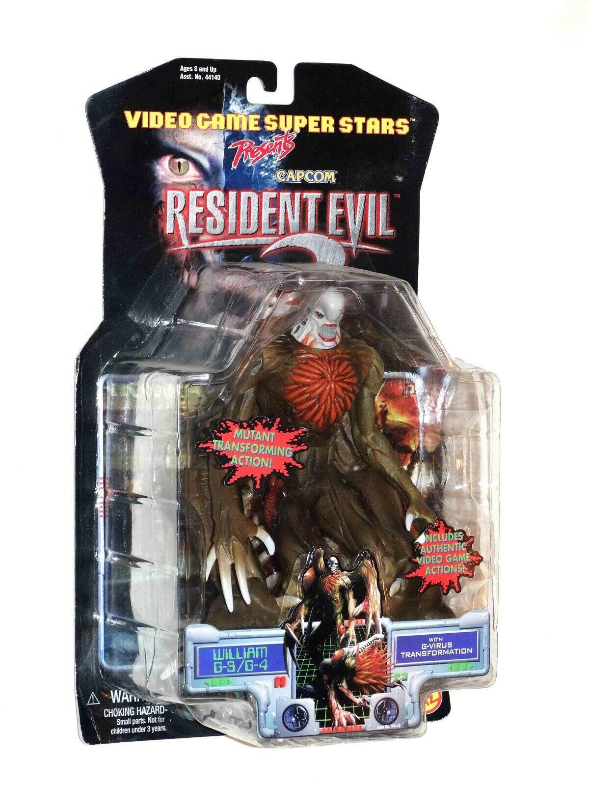 Resident Evil 2 William G-3 G-4 Action Figure Comme neuf on Card scellé 1998 Toy Biz CAPCOM