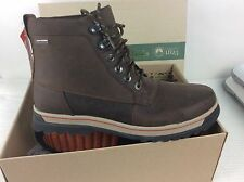 *NEW* CLARKS RIPWAY TRAIL GTX BROWN LEATHER GORE TEX WALKING BOOTS - SIZE 10.5H