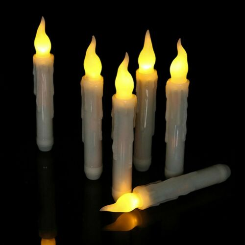 6PCS LED Flickering Flameless Battery Operated Taper Dinner Party Candles Lights