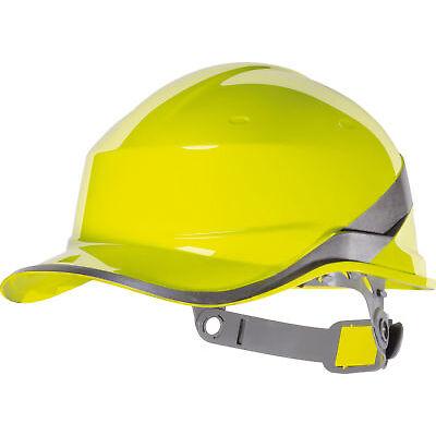 Delta Plus Diamond Hard Hat Safety Helmet Yellow Hi Viz Textile Cradle Venitex