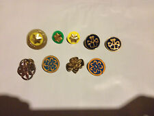 Assorted Girl Scout Pins Membership Insignia Stars And More Lot of 9