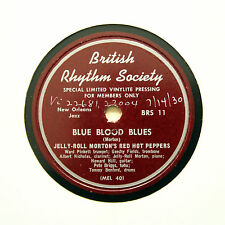 """JELLY-ROLL MORTON RED HOT PEPPERS """"Blue Blood Blues"""" (E) BRS-11 [78 RPM]"""