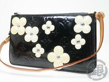 Final! AUTH PRE-OWNED LOUIS VUITTON VERNIS BLACK FLOWER LEXINGTON M92245 143241