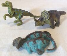 Bundle Of 3x Solid Disney Animal Kingdom Dinosaur Figures Inc. Velociraptor