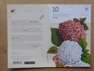 2016-CANADA-HYDRANGEAS-STAMP-BOOKLET-10-STAMPS-MINT