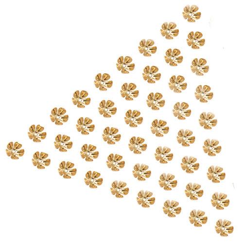 Flower Bead Caps 8 mm Plaqué Or 50Pcs filigrane pour À faire soi-même Jewelry Making