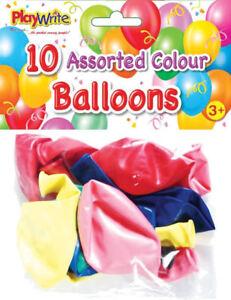 Assortiment-de-10-Colore-Ballons-Latex-Kids-Party-Butin-Fun-Toys-Sac-de-remplissage-de-valeur