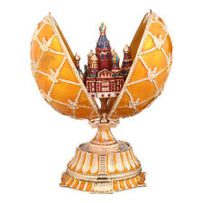 Faberge Egg Church of Savior on Blood Petersburg Russia Coat of Arm yellow 5.9''