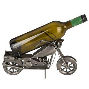 Flaschenhalter-Motorrad-Weinflaschenhalter-Flaschenstaender-Geschenk-Idee-Biker