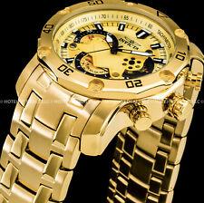 Invicta 22761 Pro Diver Men 50mm Stainless Steel Gold Vd53 Quartz Watch