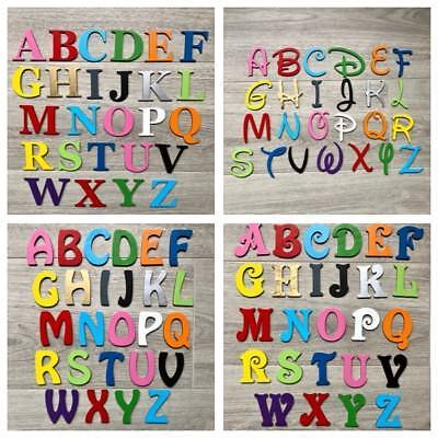 Individuel en bois lettres Alphabet Chiffres Plain Wall Art Décoration Alphabet