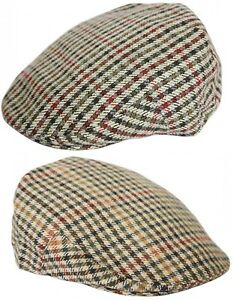 Hommes Ou Garçons Tweed Plat Casquette Extérieurs Carreaux Chapeau Racing