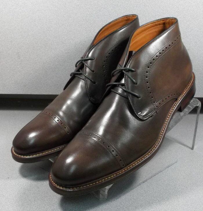 203873 WTBT40 Men's shoes 9.5 M Brown Leather Boots Johnston Murphy Walk Test