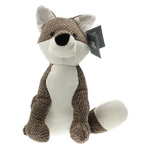 Textured-Fabric-Brown-Fox-Animal-Shape-Weighted-Home-Decorative-Doorstop-Stopper