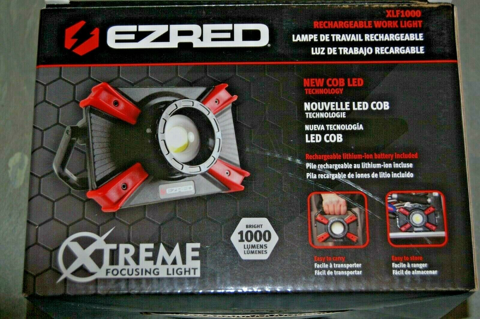 EZ Red XLF1000-OR 1000 Lumen Portable Micro-USB Rechargeable Focusing Work Light