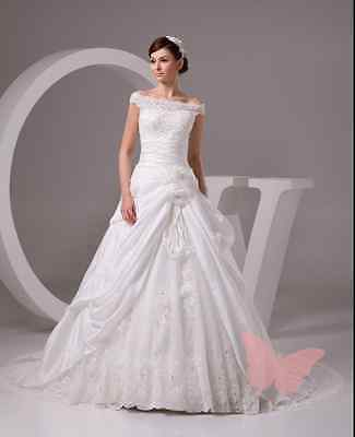Plus size Long train Lace top WEDDING Dress Brial GOWN SIZE 18,20,22,24,26,28