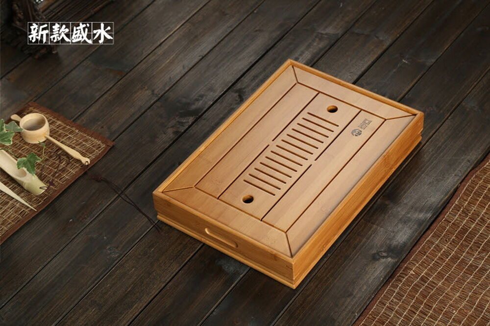 Bambù Cina Gongfu Cerimonia del tè Tavolo Vassoio 34.522.5cm