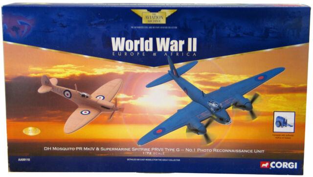 CORGI aa99110 RAF no.1 Pru, Benson, Inghilterra, RICOGNIZIONE 2-Piece Set NUOVO