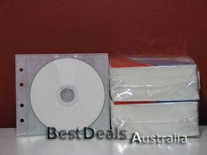 BRAND-NEW-200PCS-WHITE-CD-DVD-PLASTIC-SLEEVES-HOLDS-400
