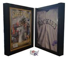 Sports Program Display Frame Lot Of 2 Magazine Black Standard Size Over 5 Deep