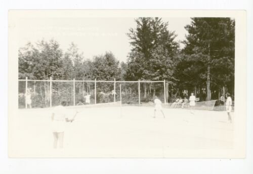 Tennis Girls RPPC Vintage Female Sports Photo ca. 1940s
