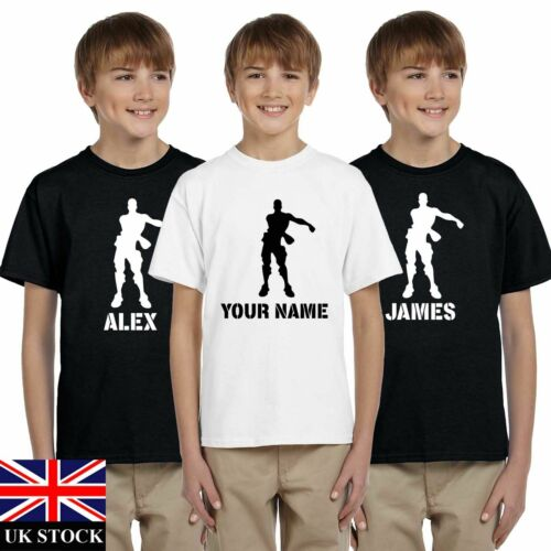BOYS MENS FLOSS DANCER PERSONALISED FORT PS4 GAME NITE  XBOX T SHIRT TEE
