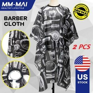 2-X-Hair-Cutting-Cape-Pro-Salon-Hairdressing-Hairdresser-Gown-Barber-Cloth-Apron