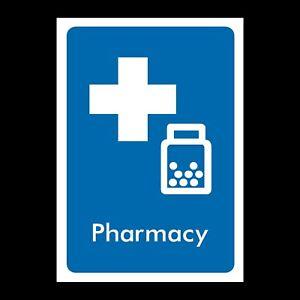Pharmacy Rigid Plastic Sign OR Sticker INFO66 All Sizes