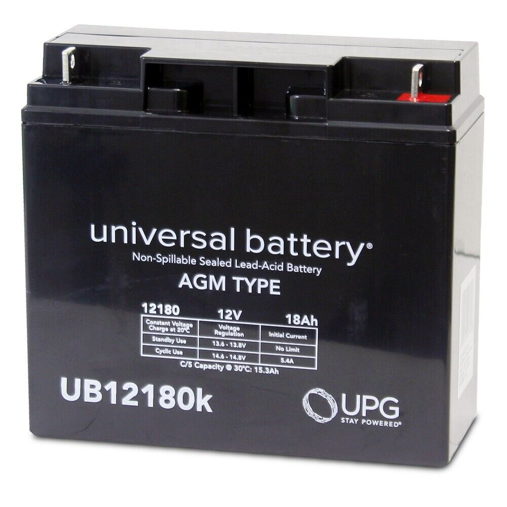 NEW UPG UB12180 12V 18AH SLA Battery Replacement for ADT Security Alarm 4520615